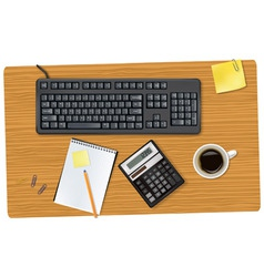 Keyboard and office supplie vector