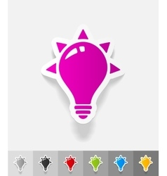 Realistic design element light bulb vector