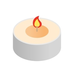 Round spa candle isometric icon vector