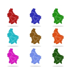 Map luxembourg vector