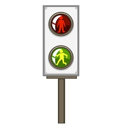 Traffic light with green and red lights vector image