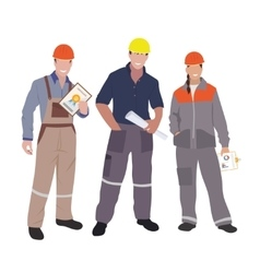 Civil engineer architect and construction workers vector