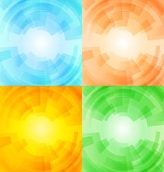 Set of season backgrounds vector