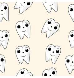 seamless texture Healthy Teeth Dental vector image