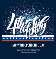 American independence day lettering design a vector