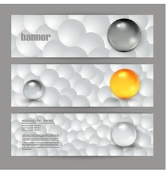 Abstract gray banner for the Web vector image vector image
