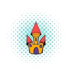 Castle icon in comics style vector
