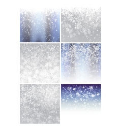 Christmas background set 1 vector image vector image