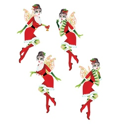 Christmas elf girl2 vector