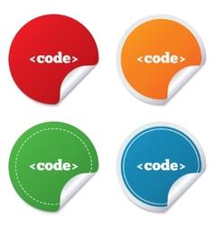 Code sign icon Programming language symbol vector image vector image