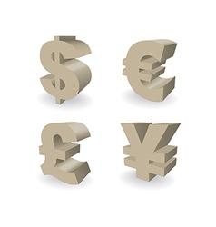 Currencies Symbols vector image vector image