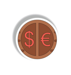 Currency stock market sign in vector