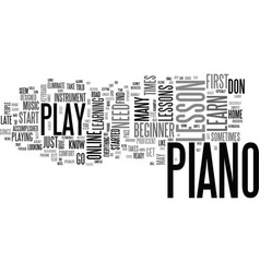It s never too late to take a beginner piano vector