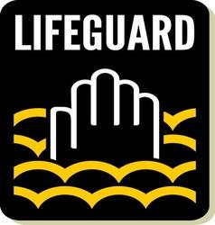 Lifeguard sign vector image vector image