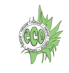 logo for ecological products vector image