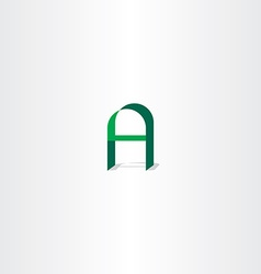 Logo green letter a icon vector