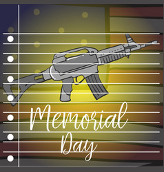 Memorial day greeting card style collection vector