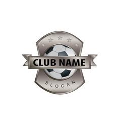 Metal shield soccer logo vector