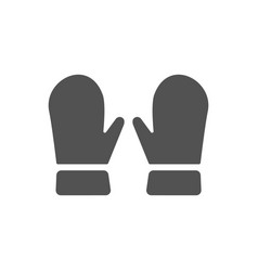mittens icon on white background vector image