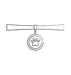 pet necklace medal identity animal vector image vector image