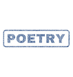 Poetry textile stamp vector