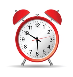 red clock with christmas vector image