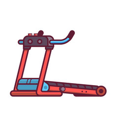 Running treadmill icon vector