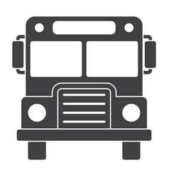 school bus silhouette vector image vector image