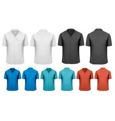 Set of white and black and colorful work clothes vector image vector image