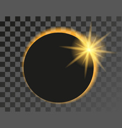 Solar eclipse on transparent vector