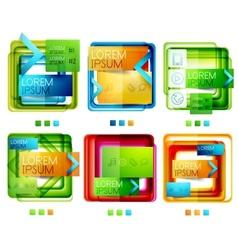 Square web design boxes set vector image vector image