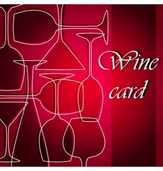 Template of alcohol card vector image vector image