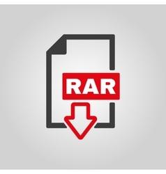 The rar file icon archive and compressed symbol vector