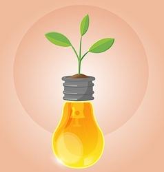 Tree Plant Organic Lamp Symbol vector image vector image