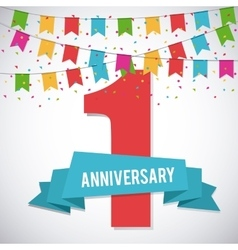 1 year celebrating anniversary graphic vector