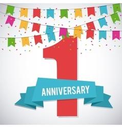 1 Year Celebrating Anniversary graphic vector image