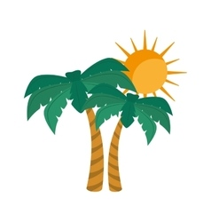 summer palm tree vector image