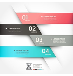 Modern origami style options banner vector