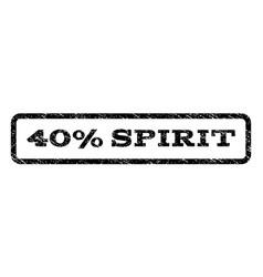 40 percent spirit watermark stamp vector