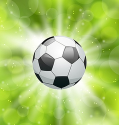 Football light background with ball vector