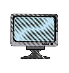 drawing monitor screen plasma device icon vector image