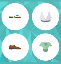 Flat icon garment set of male footware casual vector