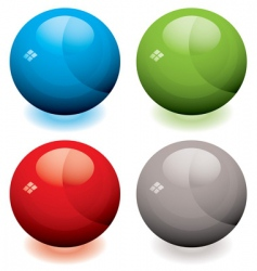 Glass marble buttons vector