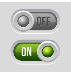 Toggle Switch Sliders On and Off position vector image