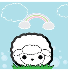 Cute little sheep vector