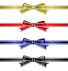 Silk ribbons set vector