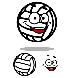 Cartoon white volleyball ball character vector