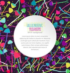 Hallucinogenic mushrooms seamless background vector