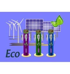 Set eco vector