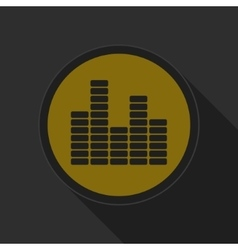 Dark gray and yellow icon - equalizer symbol vector
